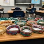 5th Graders Weave Mexican Baskets